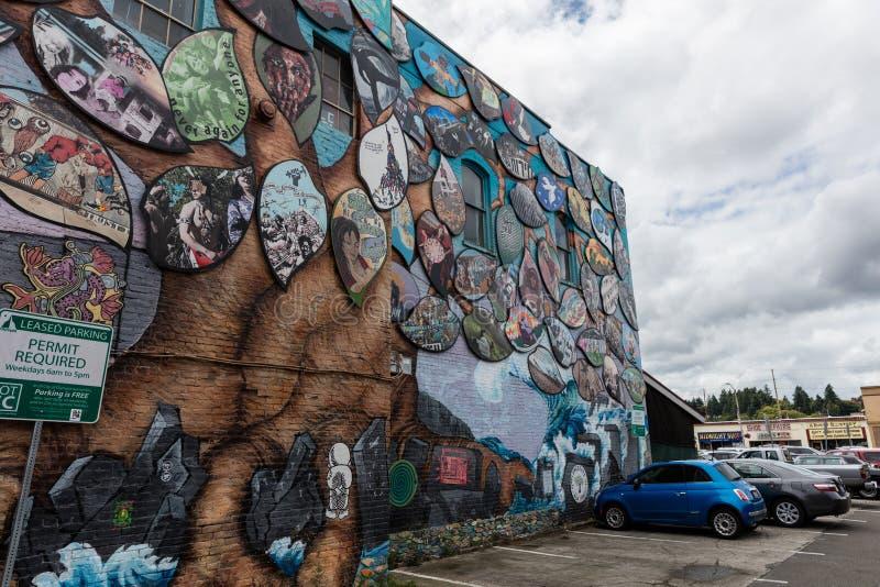 Настенная роспись солидарности Олимпия-Рафаха стоковые изображения