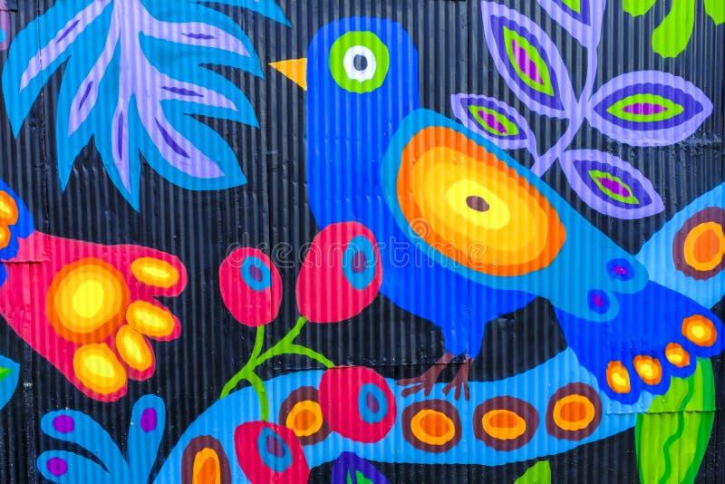 Настенная роспись стены большого диапазона в Вальпараисо стоковые фотографии rf