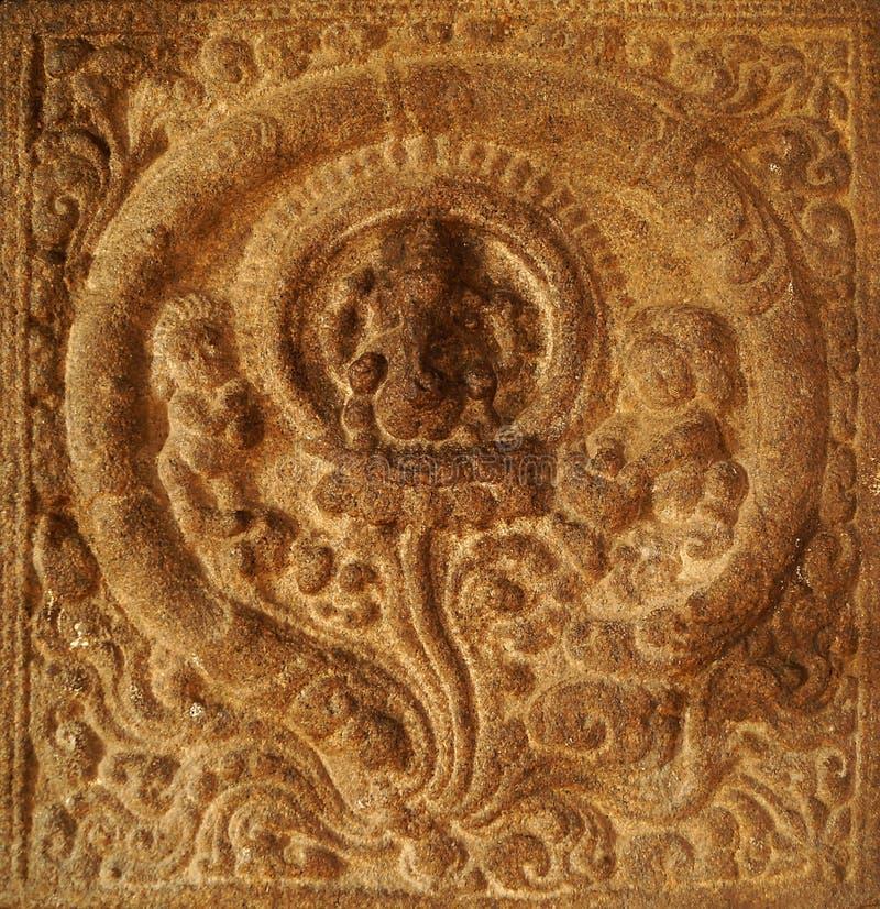 Настенная роспись стены лорда Ganesha's стоковое изображение rf