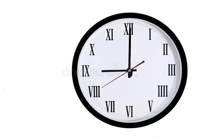 Настенные часы римских цифров стоковая фотография