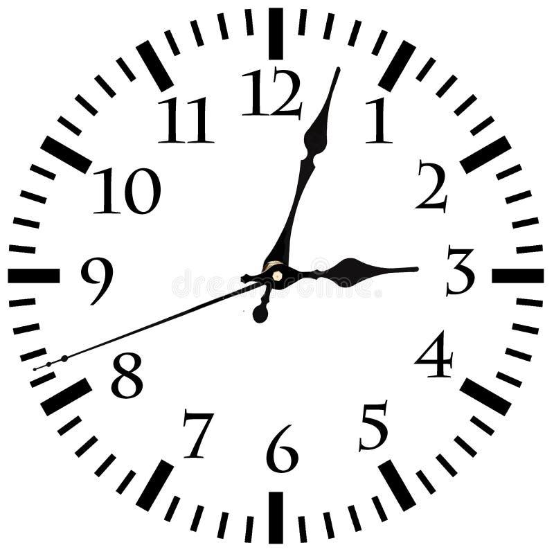 Настенные часы с стрелками иллюстрация вектора