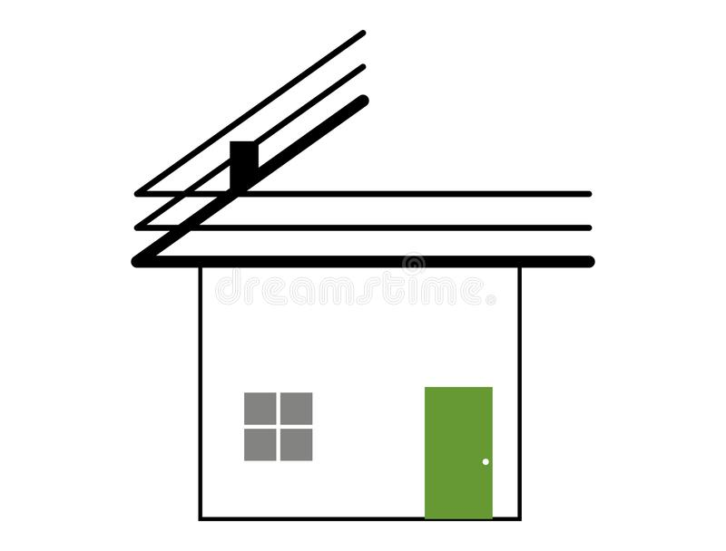 Настилать крышу и передний дом стоковое фото rf