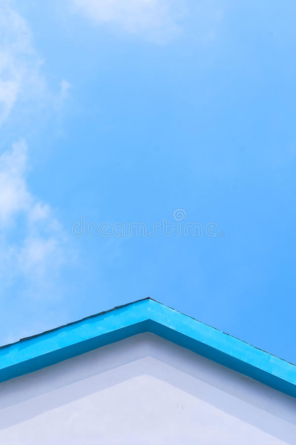 настилите крышу небо стоковая фотография rf