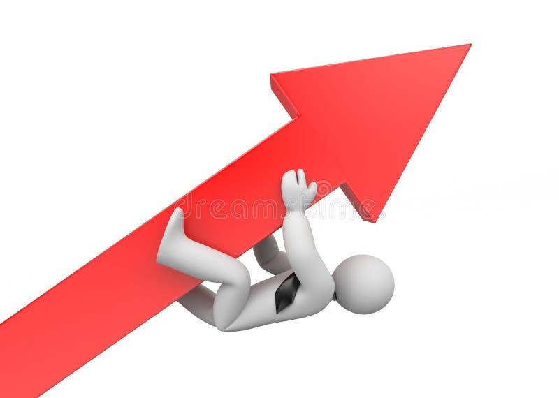 Настойчивость в достигать целей advantaged иллюстрация вектора