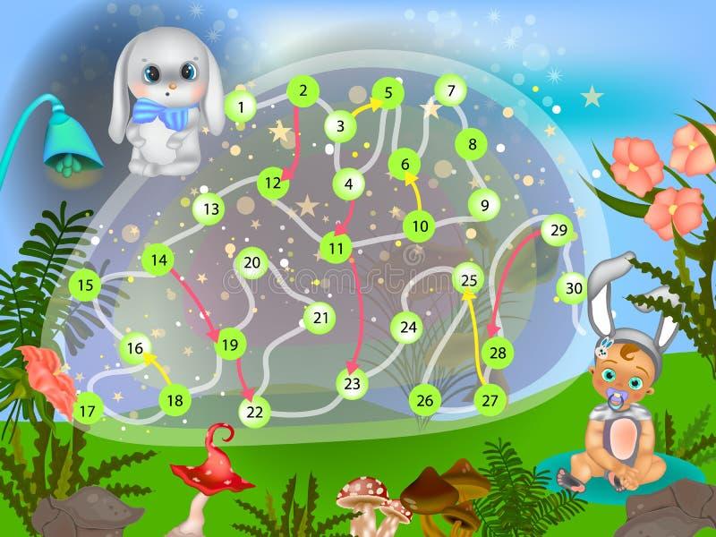 Настольная игра пасхи мультфильма вектора иллюстрация вектора