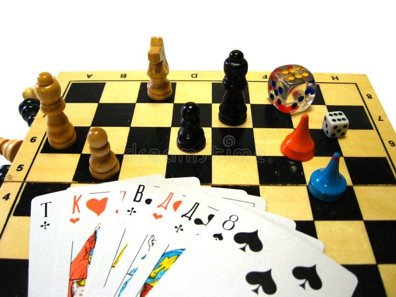 настольные игры стоковое изображение