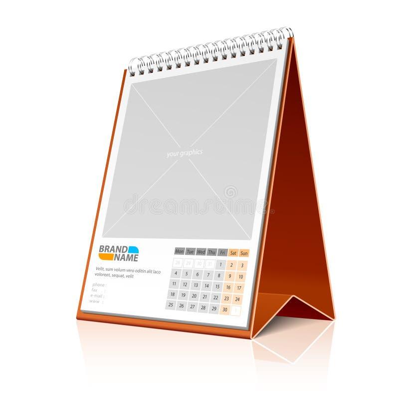настольный компьютер календара иллюстрация вектора