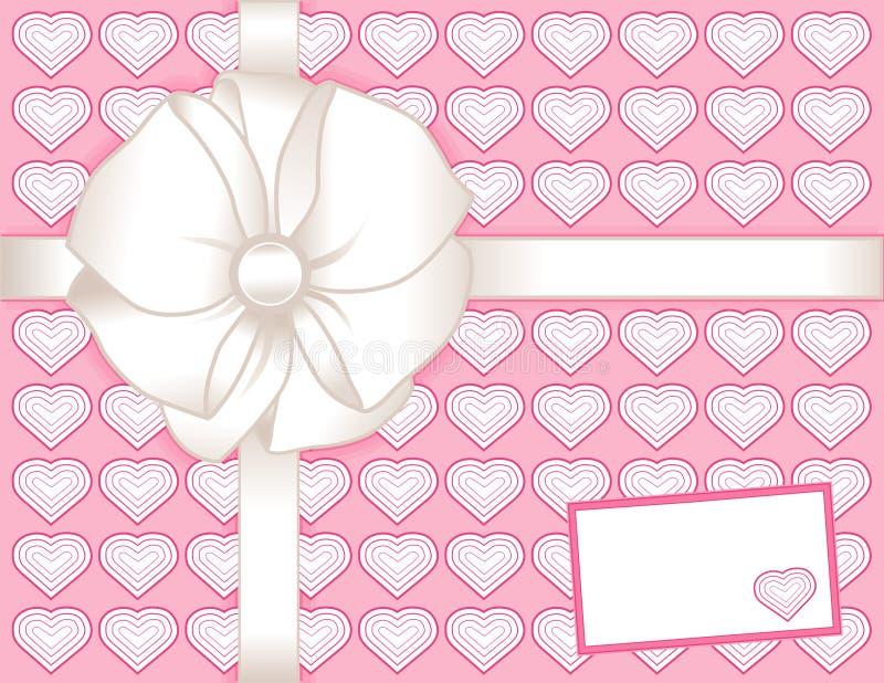 настоящий момент пинка сердец подарка карточки иллюстрация вектора