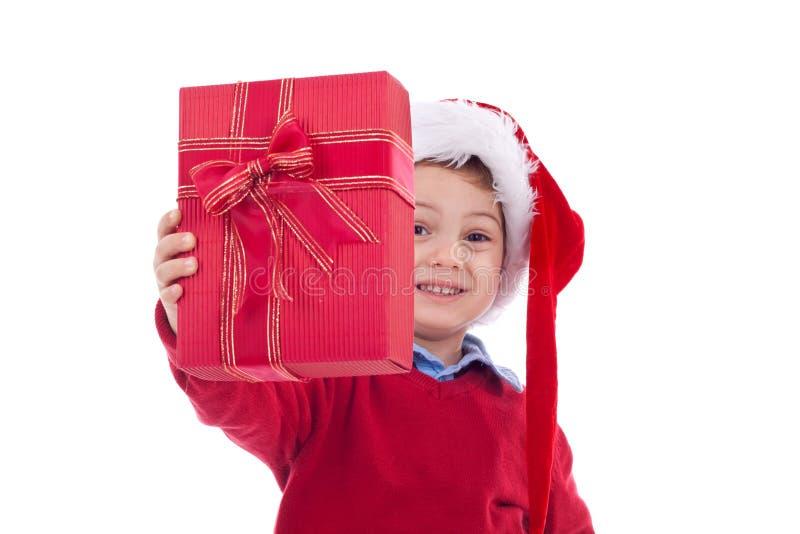 настоящий момент рождества предлагая стоковое фото rf