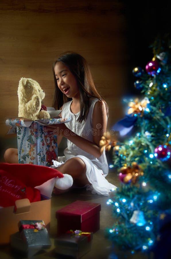 настоящий момент рождества радостный стоковая фотография