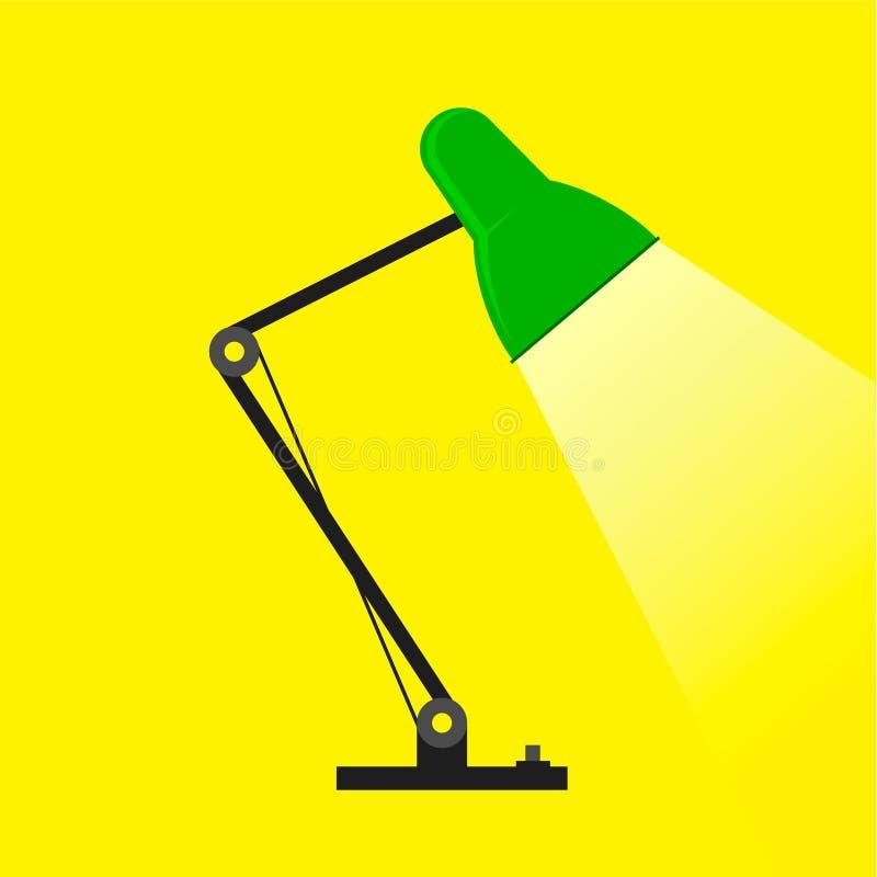 Настольная лампа, лампа стола, чтени-лампа с светом стоковые изображения