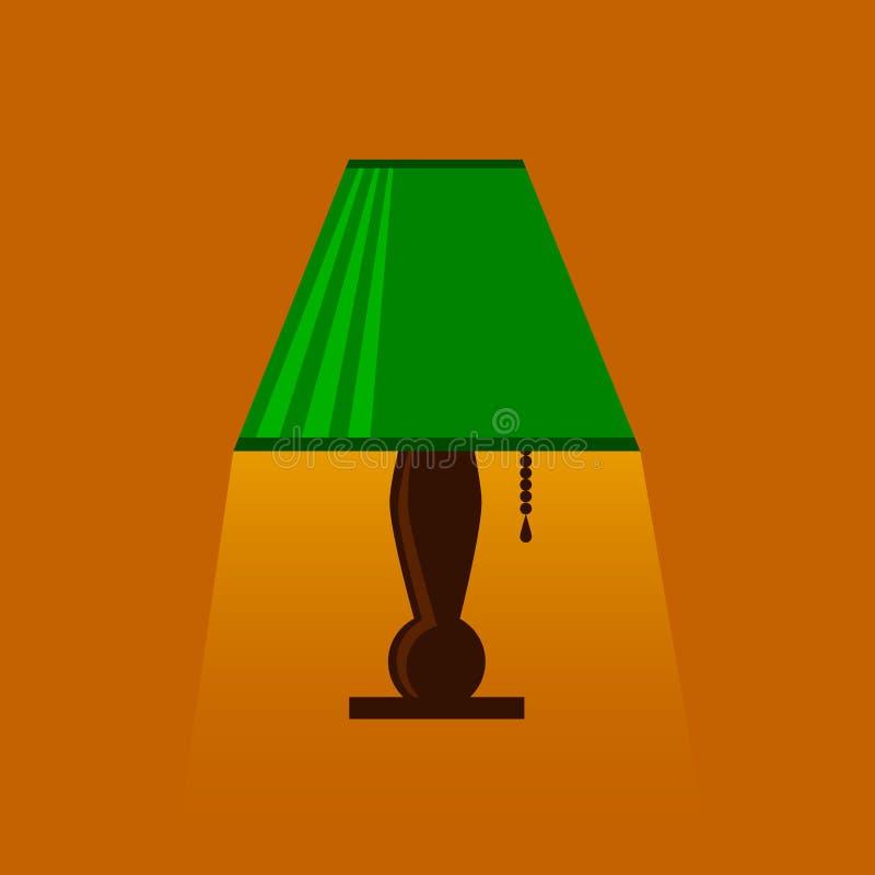 Настольная лампа, лампа стола, чтени-лампа с светом стоковое изображение