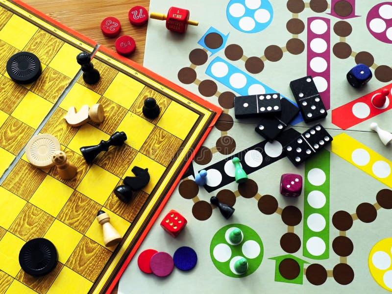 Настольные игры стоковое фото