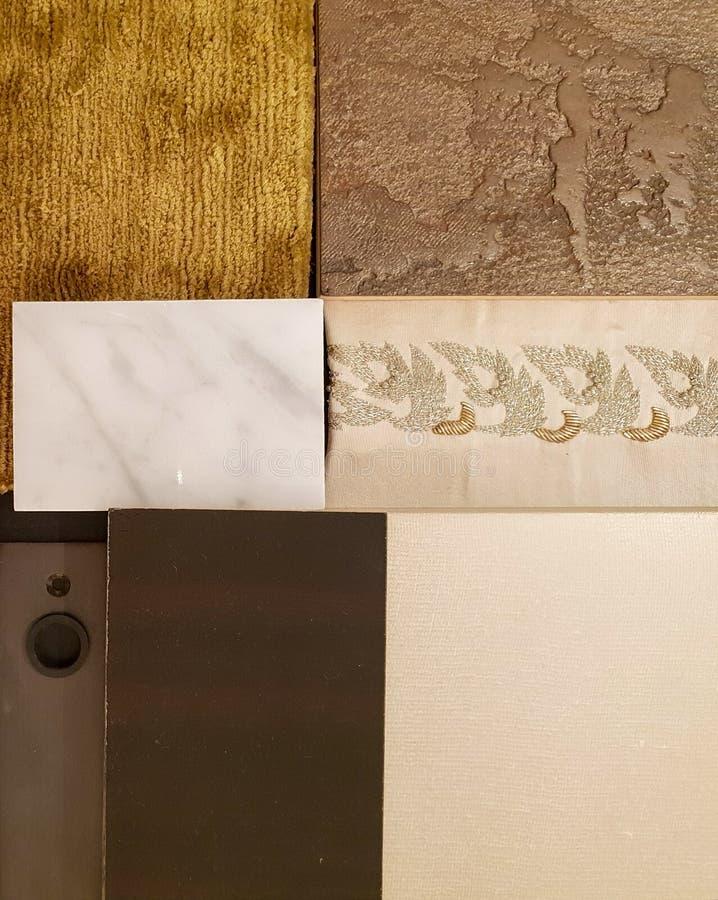 Настроение и тон дизайна интерьера стоковое изображение