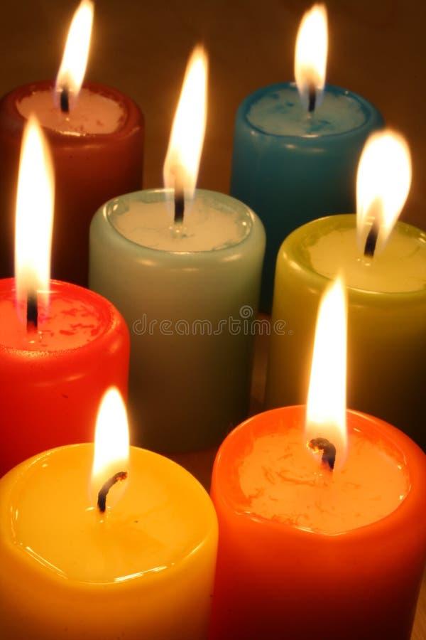 настроение свечки цветастое стоковое изображение