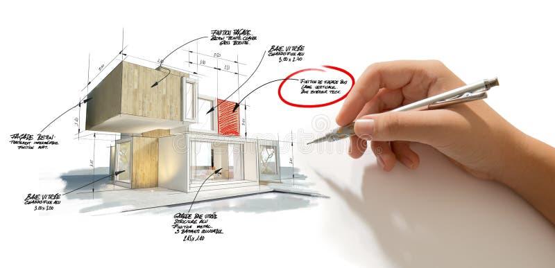 Настройка проекта архитектуры стоковые фотографии rf