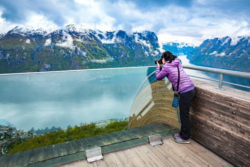 наслаждающся фотографом 5 природ старым фотографирует принимать год Бдительность Stegastein стоковые фотографии rf