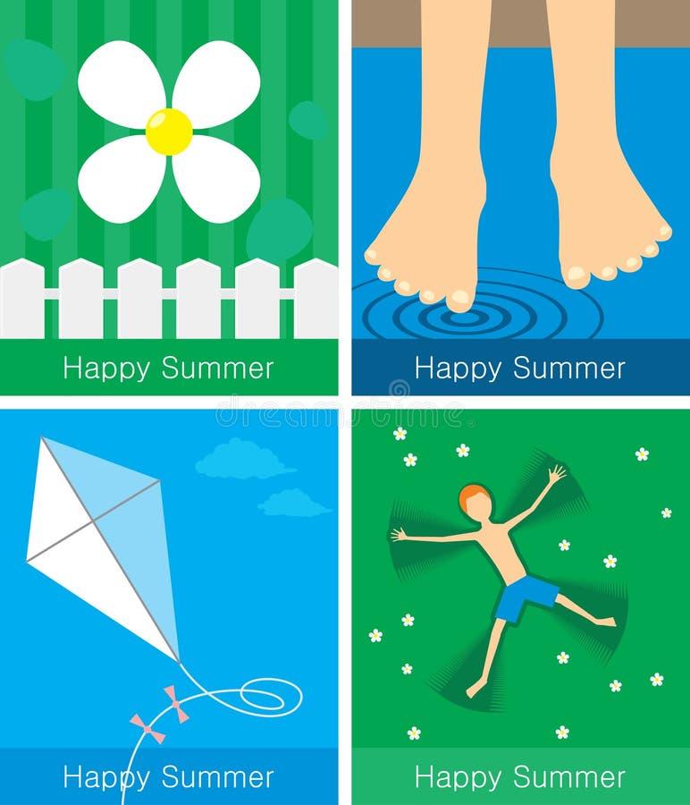 насладитесь летом иллюстрация штока