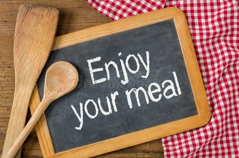 насладитесь едой вашей стоковое фото