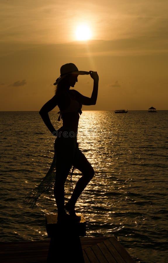 насладитесь заходом солнца стоковое фото
