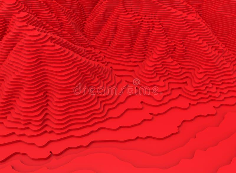 Наслоенная абстрактная окружающая среда иллюстрация вектора