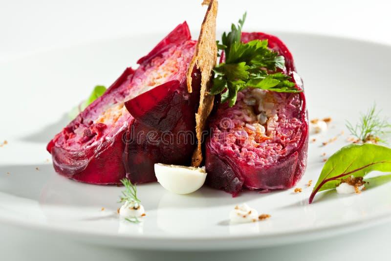 Наслоенный салат сельдей стоковые фото