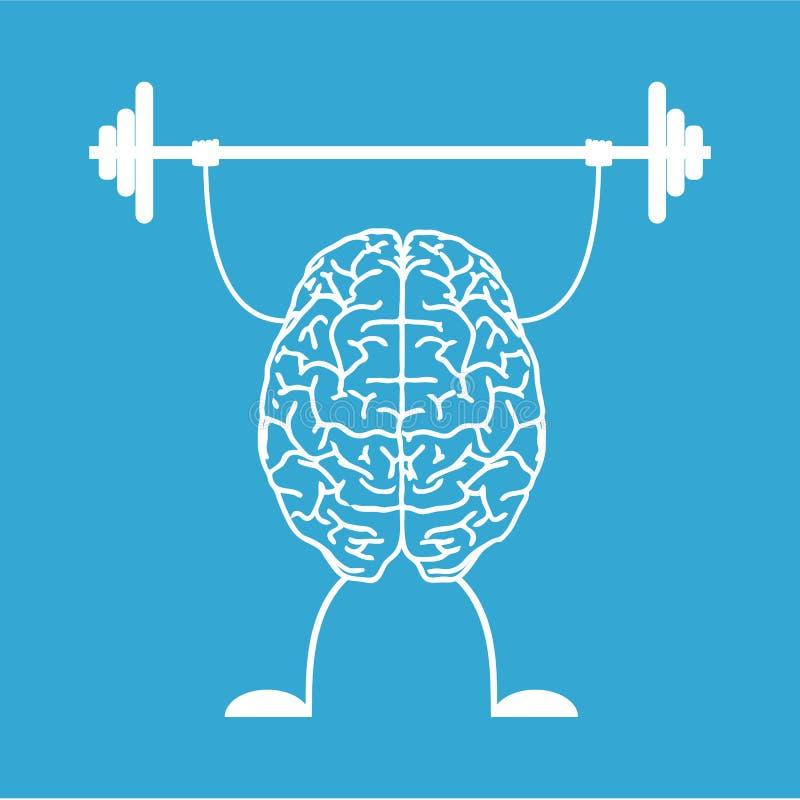 Натренируйте ваш мозг иллюстрация вектора