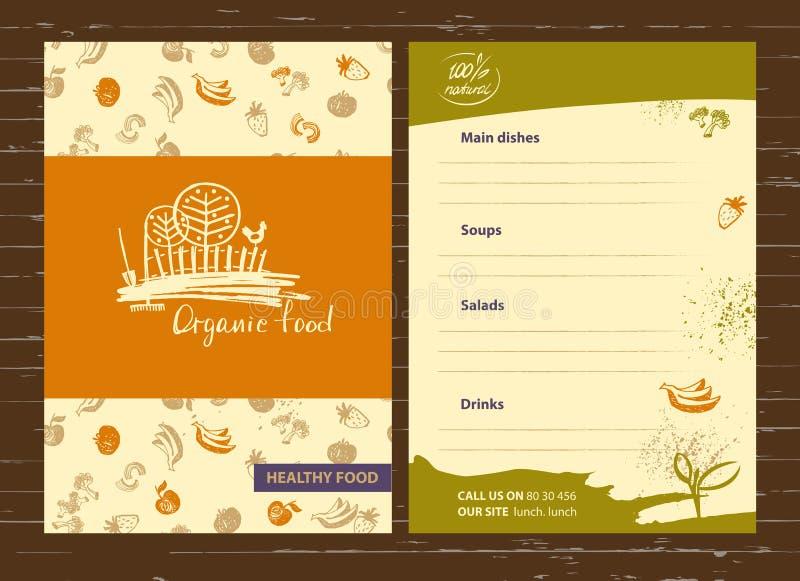 Натуральные продукты Меню для земледелия, садоводства Сельский landscap бесплатная иллюстрация
