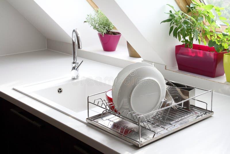 Натюрморт кухонной раковины стоковое фото rf