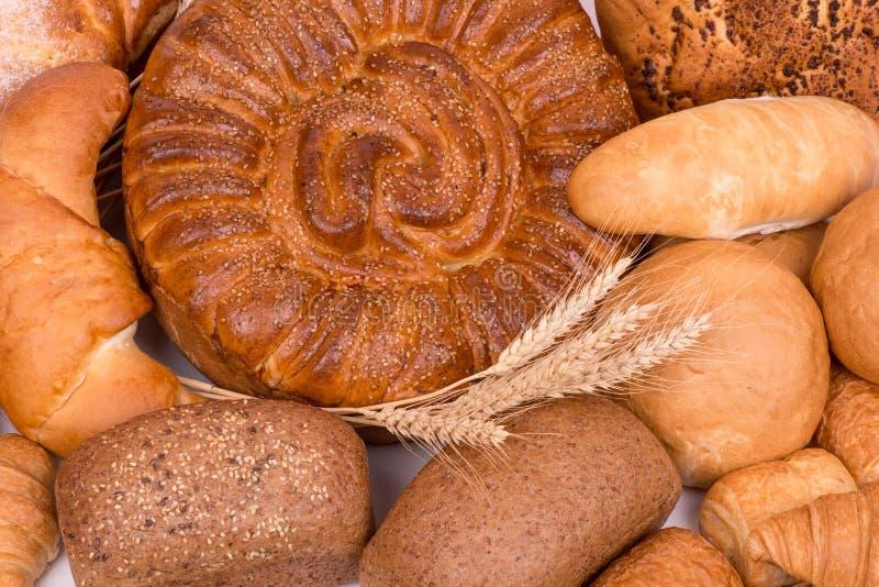 Натюрморт различных видов хлеба стоковое фото