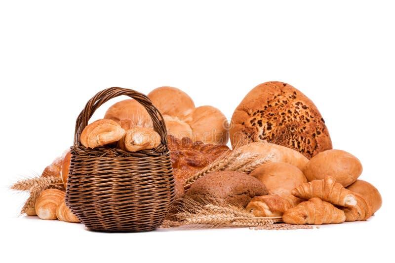 Натюрморт различных видов хлеба стоковая фотография