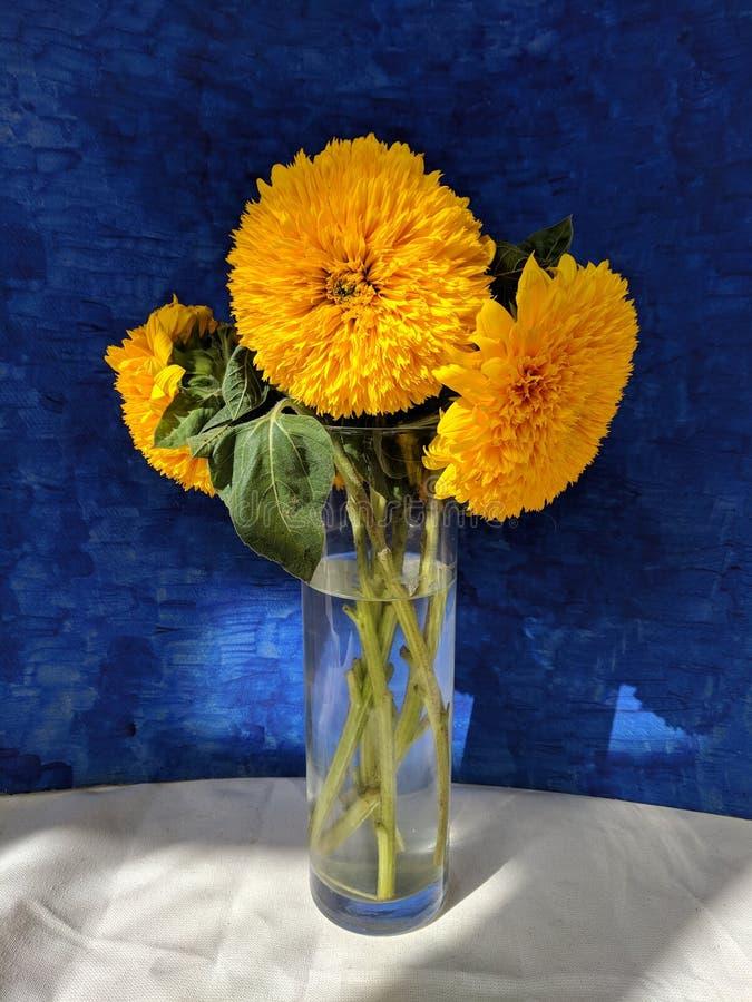 Натюрморт с букетом солнцецветов стоковое изображение