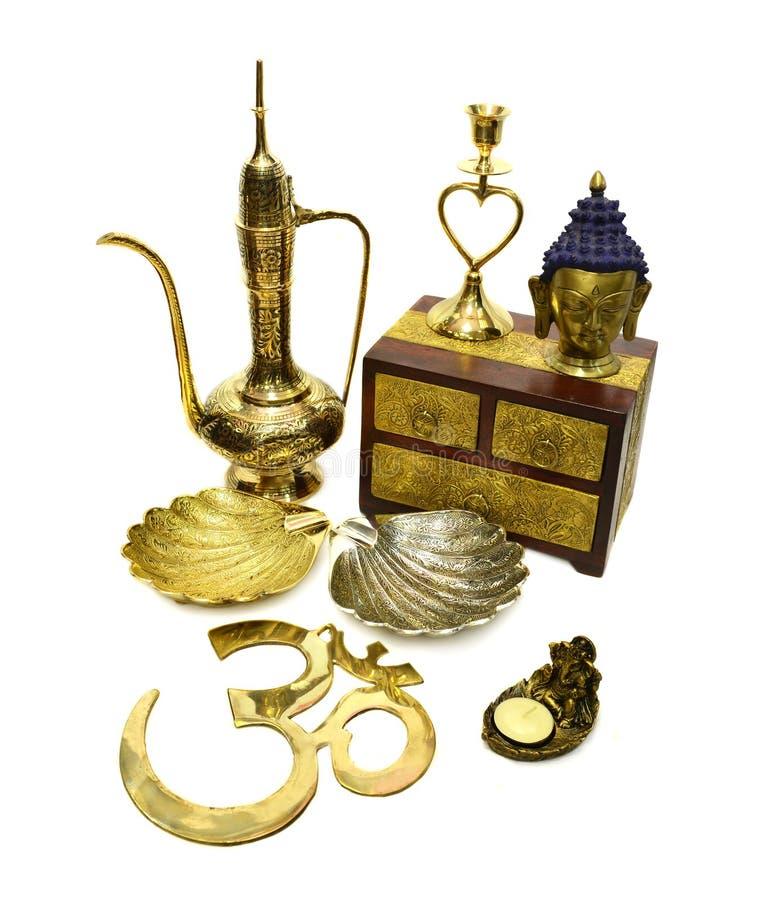 Натюрморт с индийскими культурными объектами 4 стоковое изображение rf