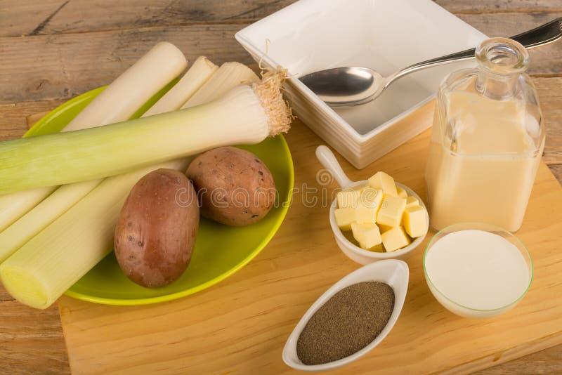 Суп лук-порея стоковое изображение