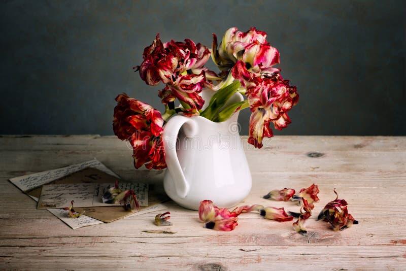 Натюрморт с тюльпанами стоковое фото