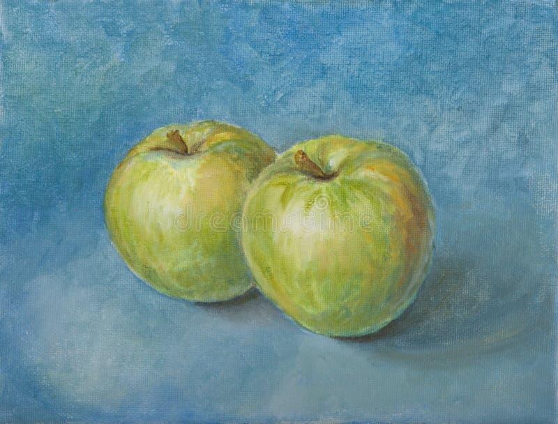 Натюрморт с яблоками иллюстрация вектора