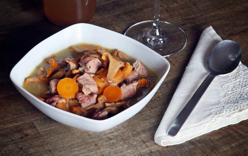 Натюрморт тушёного мяса диеты стоковая фотография