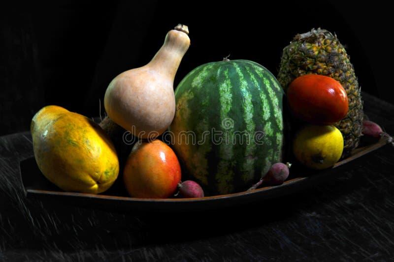 Натюрморт фруктов и овощей от Коста-Рика стоковое фото