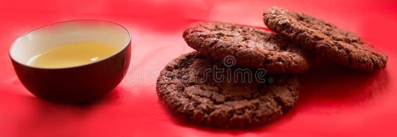 Натюрморт, чашка чаю и печенья стоковое фото