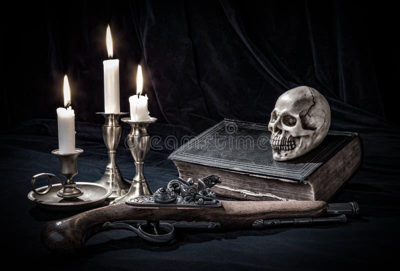 Натюрморт черепа стоковые фото