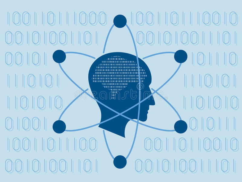 Наука данных и концепция связи иллюстрация штока