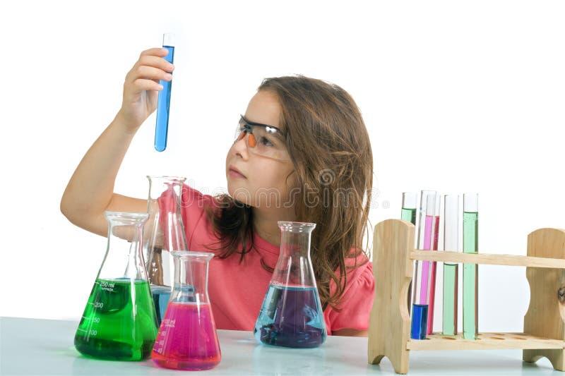 наука девушки типа стоковая фотография rf