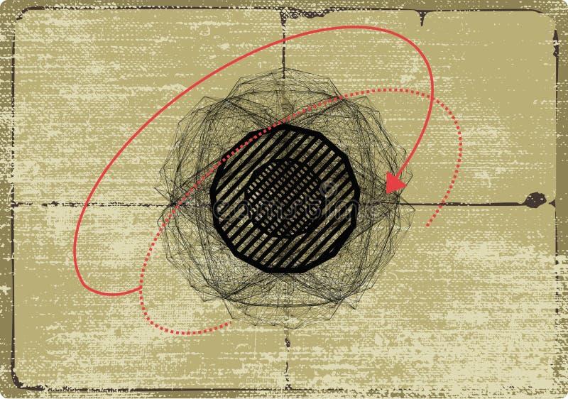 наука запланирования чертежа иллюстрация штока