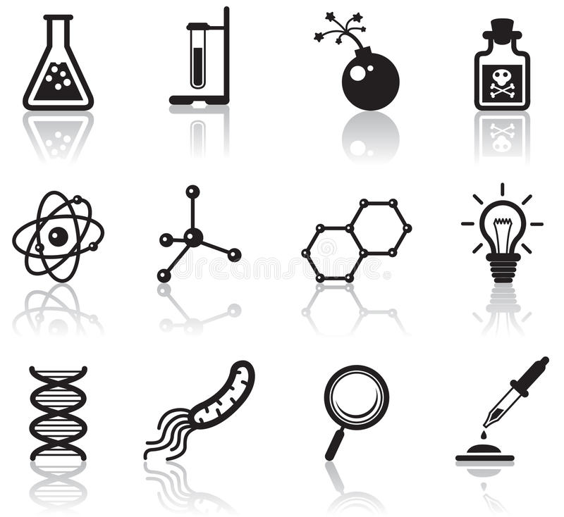 наука икон иллюстрация штока