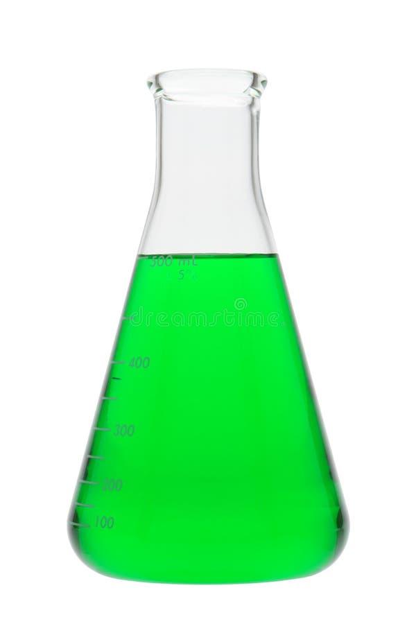 наука исследования лаборатории склянки erlenmeyer стоковая фотография rf