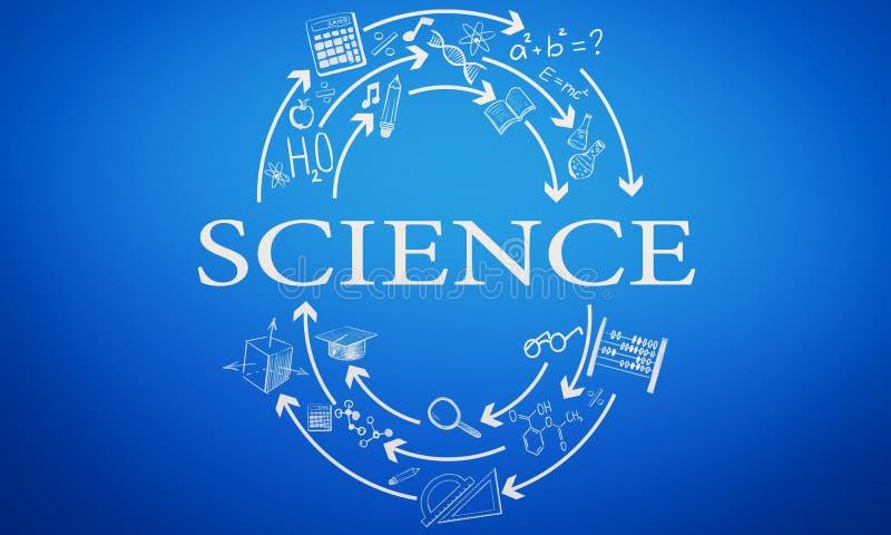 Наука и концепция знания иллюстрация вектора