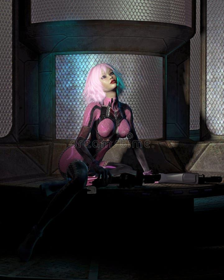 наука комнаты девушки небылицы catsuit темная бесплатная иллюстрация