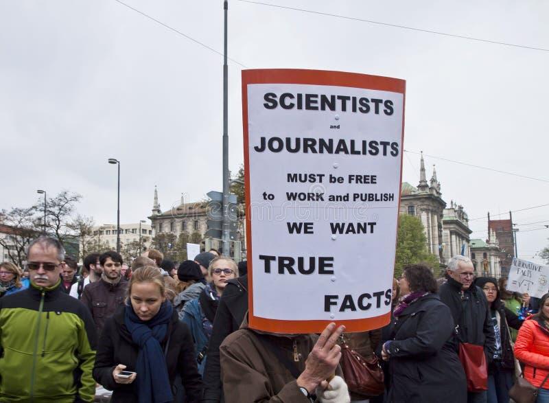 Наука Мюнхен -го март Германия 22-ого апреля 2017 стоковые изображения rf