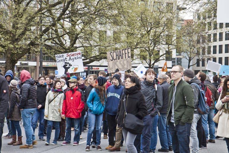 Наука Мюнхен -го март Германия 22-ого апреля 2017 стоковое изображение