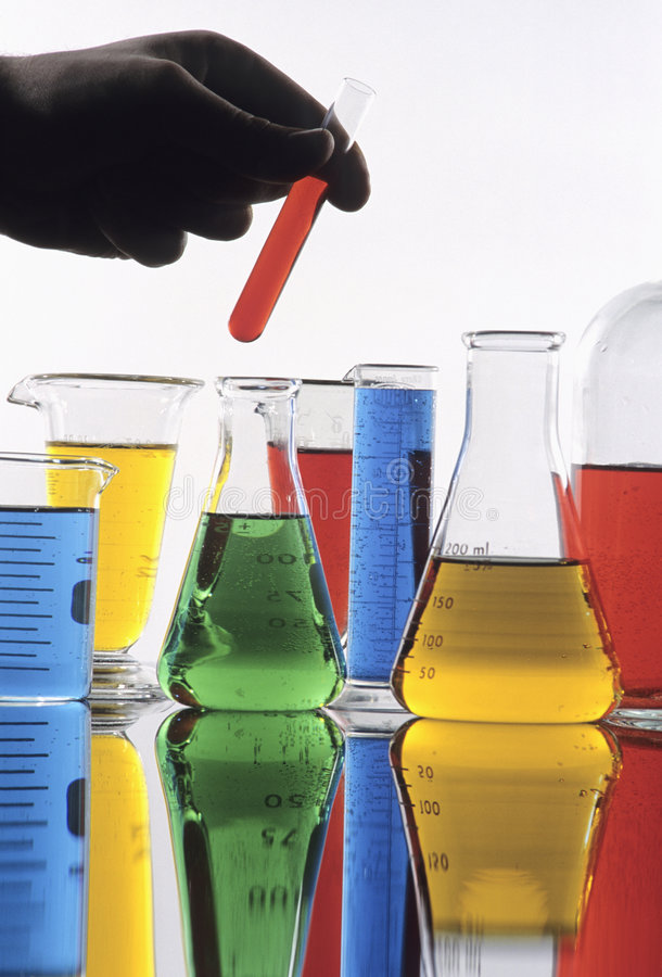 наука стеклоизделия стоковая фотография rf
